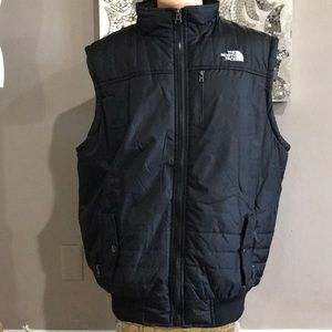 The North Face Black Quilted Sherpa  Lined Vest